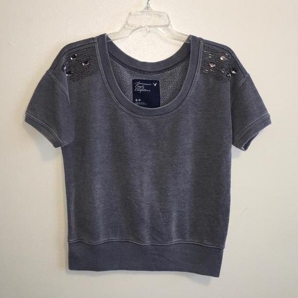 AEO Short Sleeve Sweatshirt Size Small